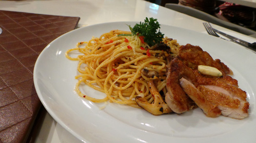 Grilled-Chicken-Aglio-Olio